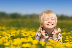A criança feliz Fotos de Stock