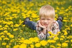 A criança feliz Fotos de Stock Royalty Free