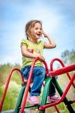 Criança feliz ao ar livre Fotos de Stock Royalty Free