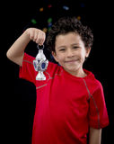 Criança feliz com Ramadan Lantern Foto de Stock Royalty Free