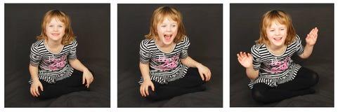 Criança feliz do modo. Imagens de Stock Royalty Free