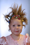 Criança feliz na cor-de-rosa Imagem de Stock