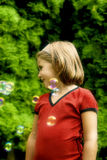 Criança feliz na natureza Imagens de Stock