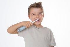 Criança feliz no fundo branco Imagem de Stock