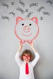 A criança finge ser homem de negócios fotografia de stock royalty free