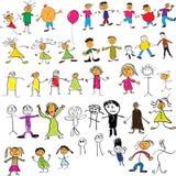 A criança gosta de desenhos Fotos de Stock