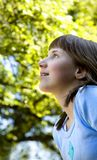 Criança iluminada Imagens de Stock Royalty Free
