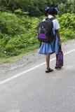 Criança indiana considerável pronta para ir à escola Fotografia de Stock Royalty Free