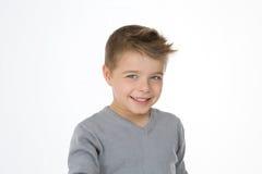 Criança inteligente isolada Fotografia de Stock