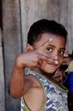 Criança local na vila de Gurusina Fotografia de Stock