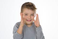 Criança manhoso isolada Imagem de Stock Royalty Free
