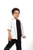 Criança masculina com expressão agradável imagem de stock royalty free