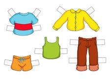 Criança masculina, vestida Imagem de Stock