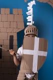 Criança medieval do cavaleiro Fotografia de Stock