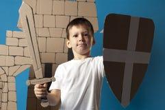 Criança medieval do cavaleiro Imagem de Stock Royalty Free