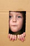 Criança na caixa Imagens de Stock