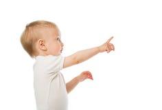 Criança na camisa branca Fotografia de Stock Royalty Free