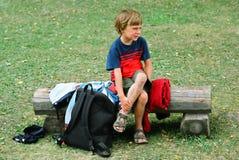 Criança na dor Fotografia de Stock