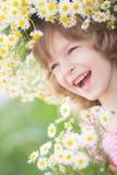 Criança na mola fotografia de stock royalty free
