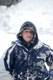Criança na neve Imagem de Stock Royalty Free