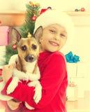 Criança na roupa do Natal Foto de Stock