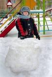Criança na rua na caminhada Foto de Stock Royalty Free
