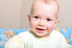 Criança na ucha imagens de stock