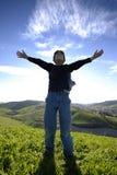Criança no céu Fotos de Stock