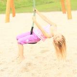 Criança no cabo aéreo Imagem de Stock Royalty Free