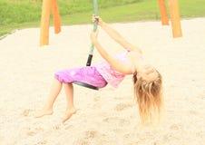 Criança no cabo aéreo Fotos de Stock