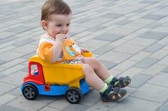 Criança no caminhão Imagens de Stock Royalty Free