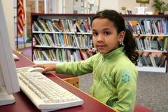 Criança no computador Foto de Stock