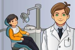 Criança no dentista Office Foto de Stock