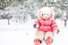 Criança no inverno Imagem de Stock Royalty Free