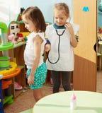 Criança no jardim de infância Fotografia de Stock Royalty Free