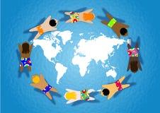 Criança no mundo Imagem de Stock