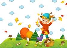 A criança no outono Fotos de Stock Royalty Free