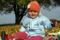 Criança no parque Fotos de Stock Royalty Free