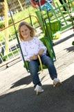 Criança no parque das atrações imagens de stock royalty free
