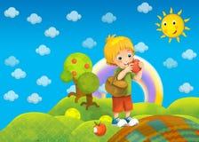 A criança no parque - desenho Imagens de Stock