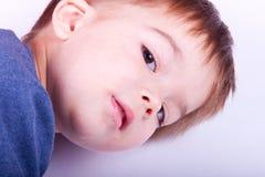Criança no perfil fotografia de stock royalty free