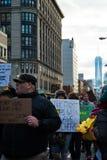 Criança no protesto preto da matéria das vidas Foto de Stock Royalty Free