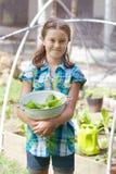 Criança no remendo do vegetariano Foto de Stock Royalty Free