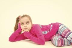 Criança no sportswear cor-de-rosa imagens de stock