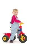 Criança no triciclo Fotografia de Stock Royalty Free