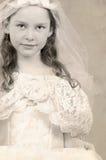 Criança no vestido formal imagem de stock