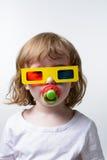 Criança nos vidros 3d Imagem de Stock