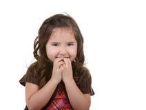 Criança nova bonita com expressão feliz imagem de stock