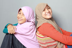 Criança nova de dois muçulmanos fotografia de stock royalty free