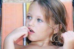 Criança pensativa Fotografia de Stock Royalty Free